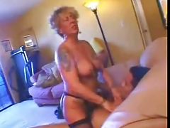 Tattooed Peaches granny fucked