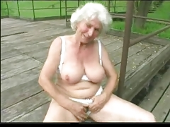 Granny Norma Outdoors with..