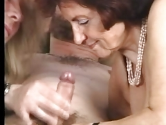 Granny in Stockings Gets..