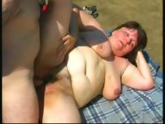 Obese brunette mature toys..