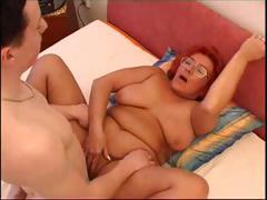 Horny redhead granny blows..