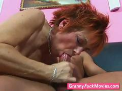 kinky GILF takes her dildo out