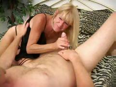Mature Tanned Blonde In Act