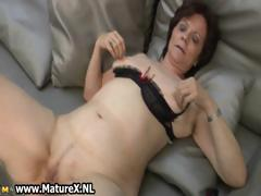 Mature housewife in downcast..