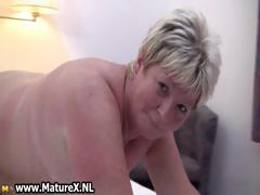 Chubby mature blonde is..