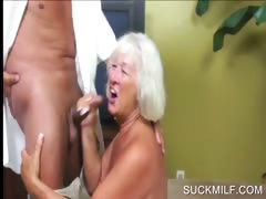 Blowjob with horny blonde..