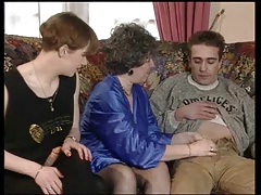 FRENCH GRANNY FUCKED BY COUPLE