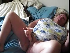 Fat granny horny masturbate..