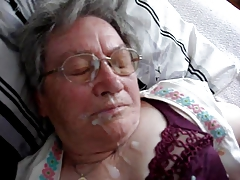 German Granny Cumshot 1