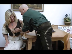 Blonde Huge-Boobs-Granny..