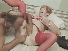 Sexy Granny Diane Making out