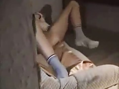 Old guy creampies college..