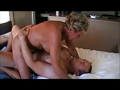Horny Granny Riding Load of..