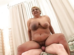 fat boob oma riding