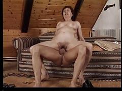 Sex-crazed mature in action..