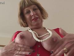 Horny British chubby granny..