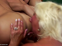 Old mom fucked by many young..