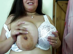 Erotic obese mummy with..