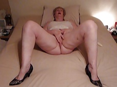 Chubby Granny playing with..