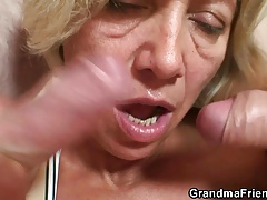 Threesome with granny with..