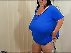 Chubby granny with big tits..