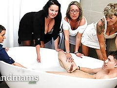 Dick cleaning with 4 Grandmas