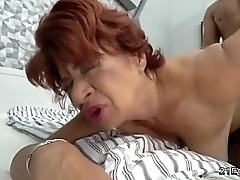 Hot latina granny gets the..